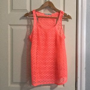 Maurices atheistic tank top hot pink size M